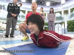 近江友里恵アナの貧乳ジャージ姿がアブナイAVみたいでチンコが痛い