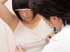 【イタズラ】生理前敏感乳首JK身体測定痴漢