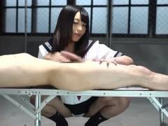 桜井あゆ 制服を着た美女がチンポから搾り取った精子を口の中で転がしてる