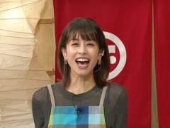 加藤綾子アナ、シースルーにエプロンでエロい感じに。