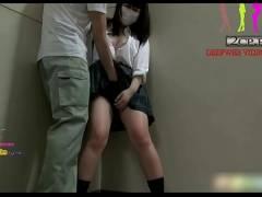 地味子女子大生を素人ナンパしてマンション非常階段でマスクの下でフェラチオ&生ハメSEXしてみたww個人撮影ハメ撮り