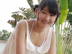 超絶可愛いJCジュニアアイドル近藤あさみちゃんのマンスジとケツ食い込みをたっぷり堪能できるイメージビデオ