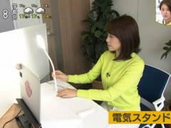 NHK中川安奈アナ、座るときに揺れてしまう横乳。