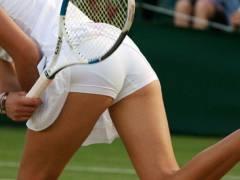 【アスリート画像】アンスコなど吐かないテニス選手のムッチリ尻!