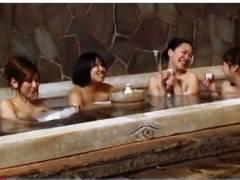 【企画】温泉でほろ酔いのお姉さんたち!間違って入浴したらセックスできた!