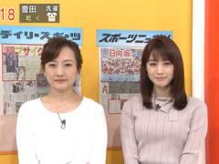 新井恵理那さんのツンと上向きなおっぱい。