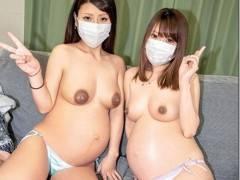 臨月妊婦2人交互に挿入する至福