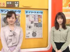 新井恵理那さん、小ぶりな上向きおっぱい。