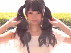 【マジックミラー号】ツインテールが可愛いロリ女子大生を即ハメ!