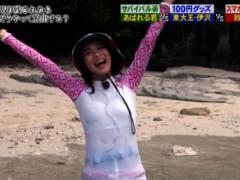 鈴木奈々がびしょ濡れで乳首が透け透けハプニングキャプ!