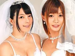 上原亜衣 大島薫 結婚式に乱入してきたニューハーフと3Pで乱交SEX!