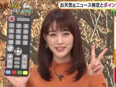 新井恵理那さんのニットおっぱいがエロい。
