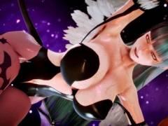 【ハニーセレクト】エロ過ぎる身体したモリガンがぶっかけられたり、バックから突かれたり…!