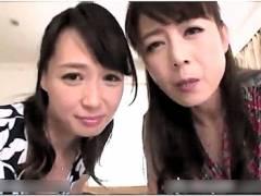 【熟女】安野由美,三浦恵理子!美魔女の二人が俺を主観でフェラチオ!