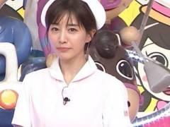 田中みな実アナがAV風味のナースコスプレを披露
