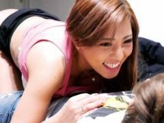 【3】サークルの先輩の爆乳Jカップ女子大生2人が後輩君の自宅でご奉仕SEX【無料AV動画】