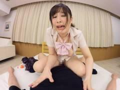 【VR】桜ちなみ 巨乳痴女子校生腰くねセックス!