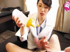 森沢かな 実は超テクニシャン!真面目な見た目の女秘書が淫語と手コキで社長犯し!