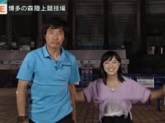 竹内由恵アナがジャンプして純白の下着が丸見えハプニングキャプ!テレビ朝日女子アナ