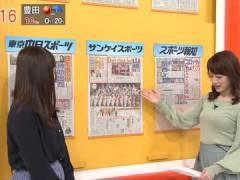 新井恵理那さんの重力に逆らう上向きおっぱい。