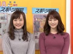 新井恵理那がピチピチニットセーターでムチムチの美乳そうなエロおっぱいの形が浮き彫りキャプ!フリーアナウンサー