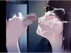 【女子校生(JK)フェラ3D着エロアニメ】かわいい女子高生に顔射しまくるアニメ集(X VIDES:4分)