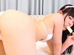 正統派美少女ジュニアアイドル河合玲奈ちゃんがエロすぎる疑似フェラしながらマンスジ全開で誘惑してくるwww