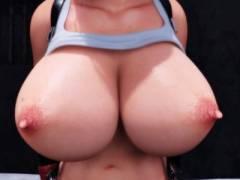 【FF7】爆乳ティファがスラム街の下品な客相手に売春させられる!