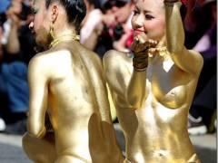 大駱駝艦(だいらくだかん)舞踏で露出金粉ショー2017