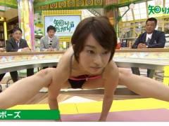 【放送事故】TVでヨガ・ストレッチを披露した女さんのハプニング画像集。(40枚)