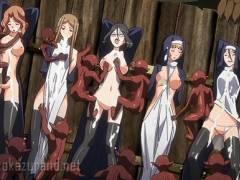 【異種姦・輪姦】シスターのお姉さんたちが磔にされてモンスターに犯される!