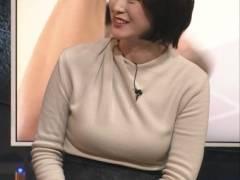 今朝妊娠報道があったNEWS23小川彩佳アナ(35)のニット巨乳