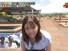 田中瞳アナが前屈み胸チラしてエロおっぱいの谷間が丸見えハプニングキャプ!テレビ東京女子アナ