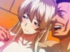 【エロアニメ】 借金のカタにオッサンに嫁いだ金髪爆乳彼女がアヘ顔寝取られ快楽堕ちするハメ撮りビデオ見せられる彼氏
