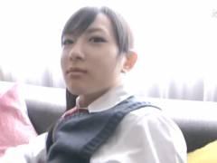 めちゃくちゃ可愛いアイドル系黒髪JKに制服着せたままホテルで着衣ハメ撮りSEX 本田奈々美 FC2