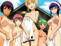 【ふたなり・レズ】露天風呂でおっぱじめるフタナリ娘たち!?ザーメンで白濁風呂の完成www