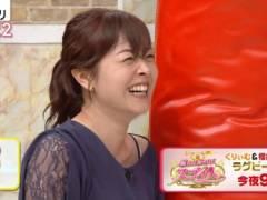 水卜麻美アナの黒いブラジャーの肩紐が丸見えハプニングキャプ!日本テレビ女子アナ
