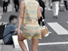 【パンツすけすけ】パンツ透けすぎて見えてる女うれしいっす!
