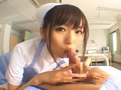 麻倉憂 白衣の天使が入院患者をフェラチオして口内射精させる主観動画