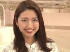 三田友梨佳アナ、インナーがスケスケな衣装。