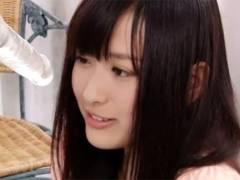 【ロリ動画】橘梨紗ちゃんがディルドフェラの練習して本物チ〇ポを舐めるw