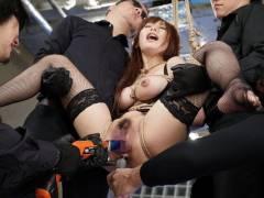 ■【美咲結衣】マンコ二本差し&2穴同時FUCKでアナルもマンコもガバガバにされる!!