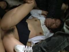 強姦グループに拉致られた美少女JKが廃工場でボコボコにレイプされ中出し20連発…。