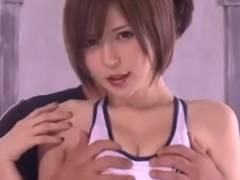 【里美ゆりあ】 超かわいいショートカットのお姉さんが乱交セックス♪