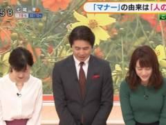 新井恵理那がピチピチニットでツンと上向きの美乳そうなエロおっぱいの形が浮き彫りキャプ!フリーアナウンサー