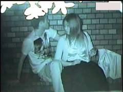 【青姦+公園カップル+盗撮】本当に猥褻な真夜中の公園カップル!赤外線カメラで隠し撮りしました。