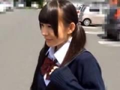 【ロリ動画】【素人】パイパン円光ロリJKを車の中でハメ撮りついでに中出し