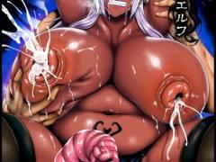 ダークエルフの女騎士が敵に捕らわれ肉奴隷にwww【エロ同人誌・オリジナル/C91】