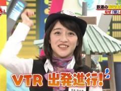 NHK赤木野々花アナ、前かがみで巨乳の胸元がチラ見え。