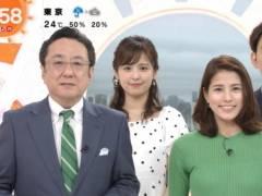永島優美アナがニットセーターでインナー透け透けのムチムチおっぱいの形がくっきりキャプ!フジテレビ女子アナ
